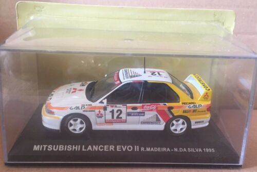 "DIE CAST /"" MITSUBISHI LANCER EVO II R.MADEIRA 1995 /"" SCALA 1//43 N.DA.SILVA"