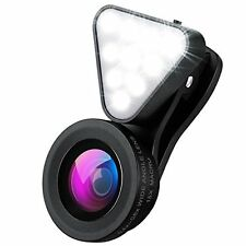 Cell Phone Lens With Beauty LED Flash Light For iPhone 7 Plus & Most Smartphones