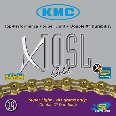 KMC X10SL 10 speed 116L Bike Bicycle Chain for SHIMANO Campagnolo SRAM Gold