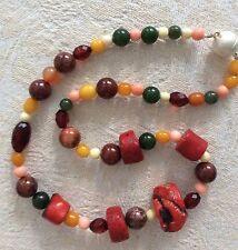 Collier Halskette Kette Koralle, Bernstein, Jade, Bein, Silber etc. Modeschmuck