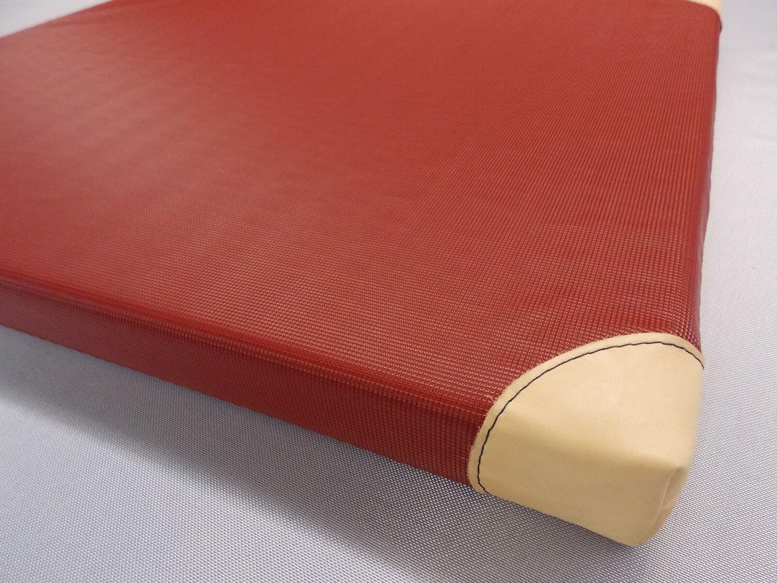 Turnmatte - Turnmatten  200x100x6 cm m. Lederecken    ROT