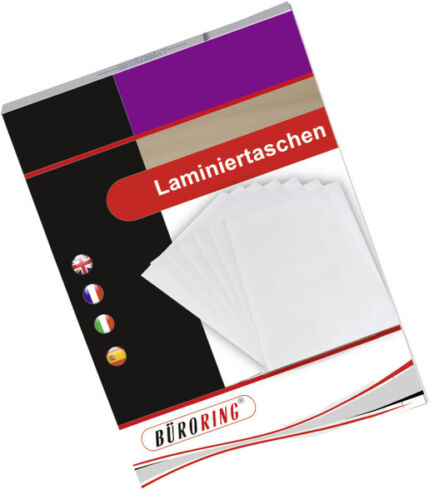 Laminierfolien 100 Stück  DIN A4 75-80 Mic 1A Marke glänzend Kartonverpackung