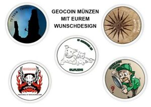 Own-Geocoin-Text-to-Choice-Request-Picture-Gift-Christmas-Cacher-TB-Trackable