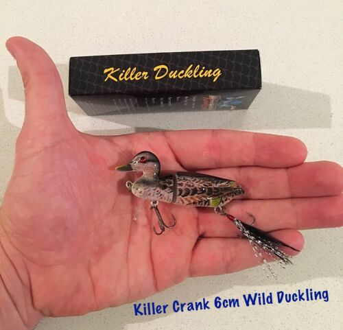 New Killer Crank 6cm Wild Surface Duck//Duckling Murray Cod//Bass Fishing Lure