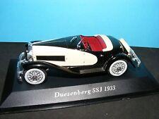 Duesenberg SSJ 1933 Iin Black over Cream  Whitebox Product in 1:43rd. Scale