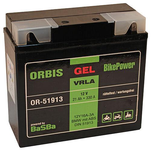 Orbis Motorradbatterie GEL 51913 21Ah 12V BMW mit ABS *sofort einsatzbereit*