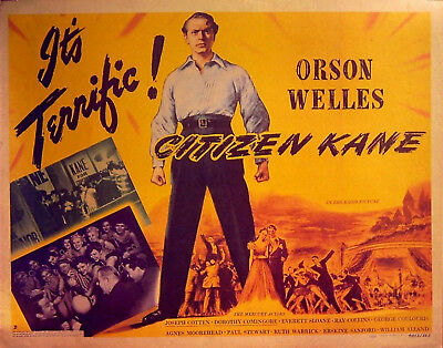 Citizen Kane Orson Welles Movie Film Cinema wall Home Posters Art #10 A3