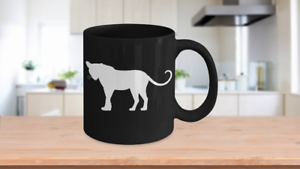 Details about  /Big Cats Mug Black Coffee Cup Funny Gift for Cat Lovers Panther Jaguar Cheetah