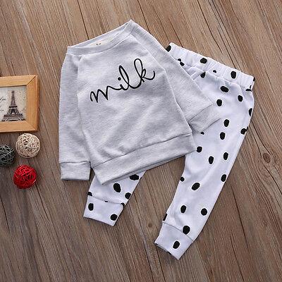 Newborn Baby Clothing Boys Girls Crewneck Outfits Tops Pants