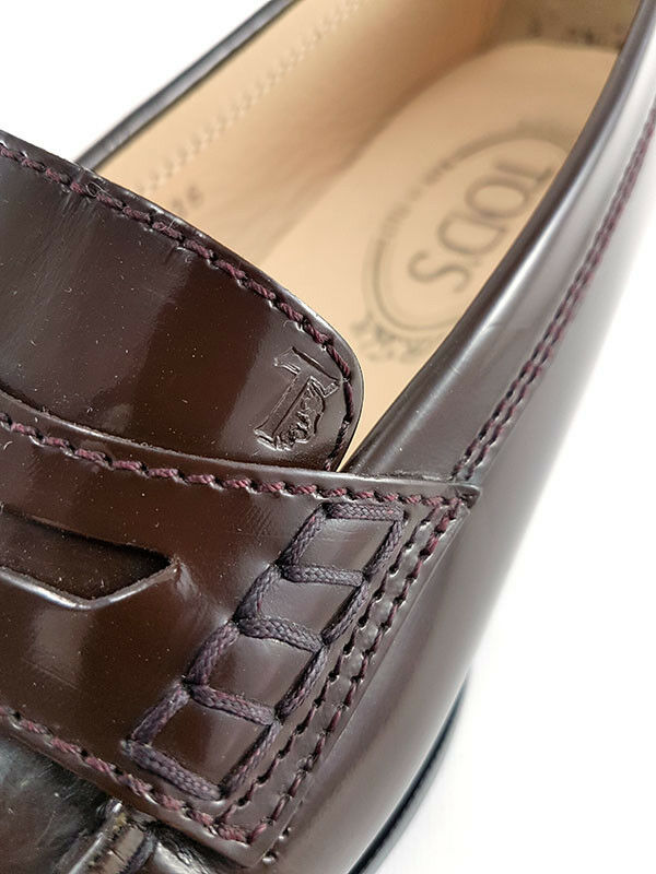 TOD'S Penny Loafers in Brown Brown Brown Leather, Women's Size UK 3   EU 36 b84b24