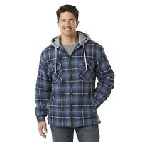 Northwest Territory Men's Hooded Shirt Jacket Plaid Adult Size Small Or Medium