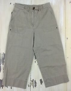 RALPH-LAUREN-Womens-Khaki-Chino-Cropped-Clam-Digger-Capri-Pants-PETITE-8P