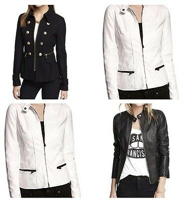 EXPRESS Women's (Minus The) Leather Peplum Seamed Moto Jacket - U CHOOSE: XS-L