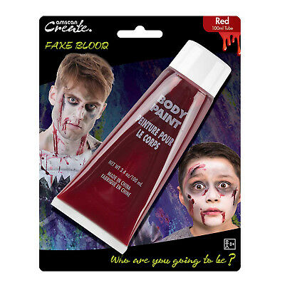 Creare Halloween Horror Ferita Taglio Fancy Dress Party Stadio Grandi Fake Blood Tubi-mostra Il Titolo Originale