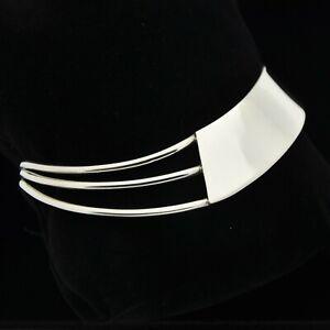 Solid-925-Sterling-Silver-Minimalist-Asymmetrical-Cuff-Bracelet