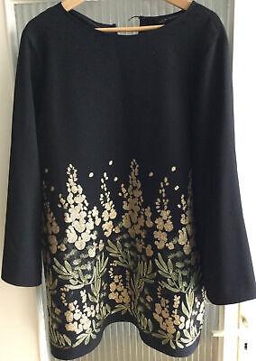 Schwarzes Kleid mit Pailettendecor Zara | eBay