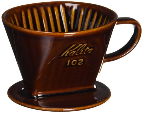 Kalita Pottery Coffee Dripper 102 Lotto For 3 - 4 People Brown #02003 Drip Japan