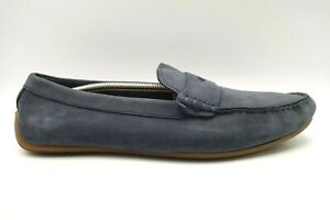Clarks Navy Blue Leather Casual Slip On