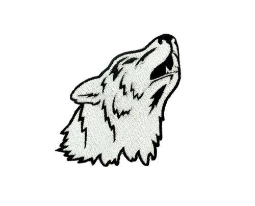 patch ecusson brodé loup lone wolf biker motard NO CLUB moto skull backpack