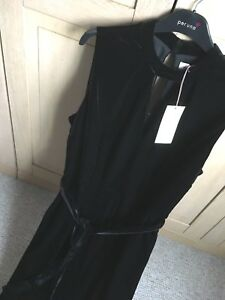 RRP £35 LADIES M/&S SIZES 14 16 BLACK STRAIGHT LEG CROPPED TROUSERS FREE POST
