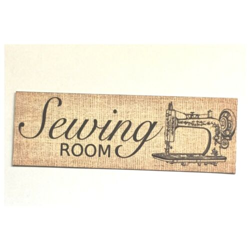 Sewing Room Machine Cotton Button Room Rustic Wall Plaque or Hanging Art Craft