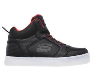 Dettagli su SKECHERS ENERGY LIGHTS sneakers nero scarpe bambino luci mod.  90604L