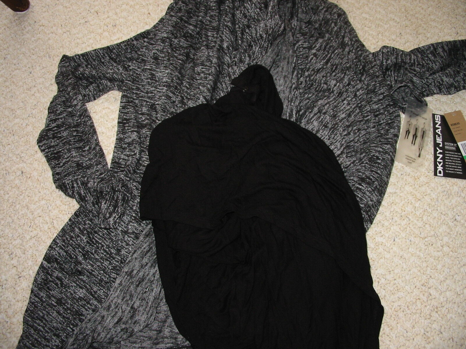 NWT DKNY Credver Top Draped Vest Scarf Size Large