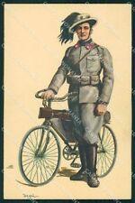 Militari Esercito Bersaglieri Ciclisti Divisa 1931 Degai cartolina XF1010