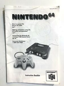 Nintendo 64 N64 Console System Instruction Booklet Manual Only Book