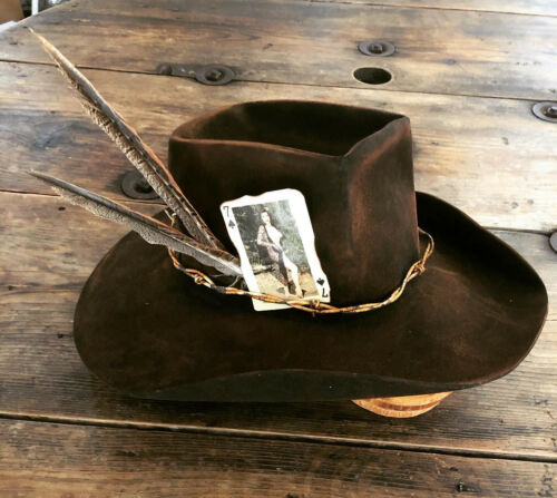 Vintage Sass Custom  Western Hat Cowboy Fedora Hat