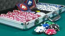 300pc POKER SET DICE CHIPS,DEALER BUTTON, PLAYING CARDS