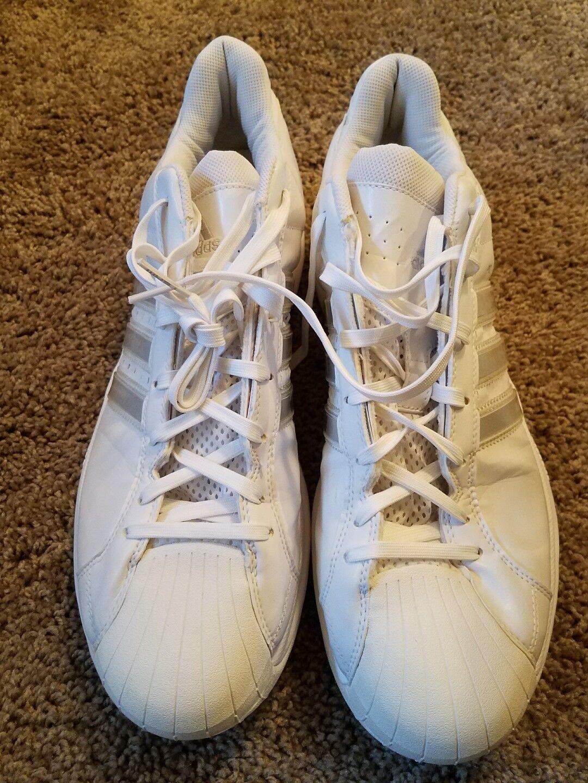 new products 95e39 29f6b Adidas Originals Hombre Pro Model Fashion sneaker, Blanco       Blanco, 14 m