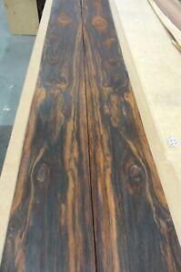 "Bubinga Waterfall figured wood veneer 13/"" x 78/"" raw no backing 1//32/"" thick"