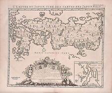 Antique map, L'empire du Japon tire des cartes des Japonnois