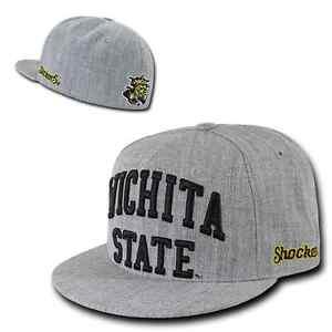 34f50a37c6f04 Wichita State University WSU Shockers NCAA Fitted Flat Bill Baseball ...