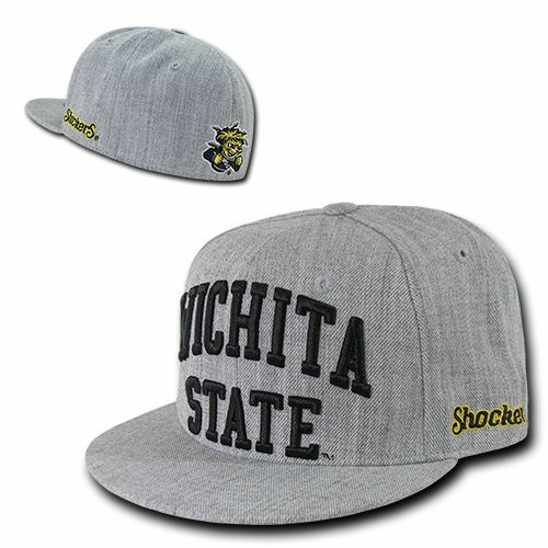 Wichita State University WSU Shockers NCAA Flat Bill Snapback Baseball Hat Cap