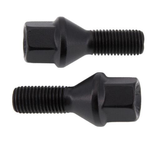 20X M12x1,25 Kegelbund 60° 25 mm Radschrauben Radbolzen schwarz Alufelgen NEU