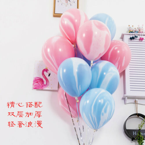 10-50pcs CHROME BALLOONS Rose gold Confetti /& Marble Helium Balon Birthday Party