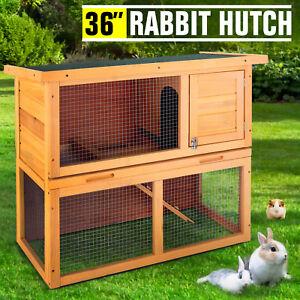 36-034-Wooden-Rabbit-Hutch-Chicken-Coop-Waterproof-Wood-Hen-House-Poultry-Pet-Cage