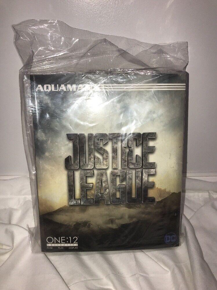 Mezco One 12 colectivo Liga De La Justicia Aquaman Jason Momoa Figura de Acción Trident