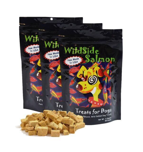 WildSide Wild Alaskan Freeze Dried Salmon USA Dog Training Treats 3oz - 3 Pack