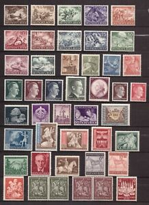 AU0056-Collection-Third-Reich-Hitler-Nazi-WWII-LOT-MINT-NEVER-HINGED-MNH
