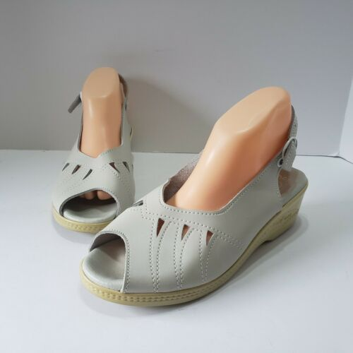 WORISHOFER Women Sandals Sz EU 40 White Leather Sl
