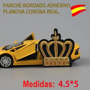 PARCHE-BORDADO-TELA-ADHESIVO-PLANCHA-CORONA-REAL