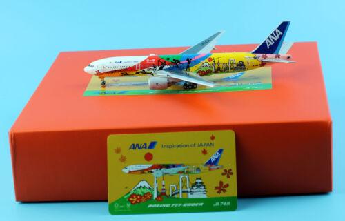JC Wings 1:400 All Nippon Airways ANA Boeing777 Diecast Model JA741A Flags Down