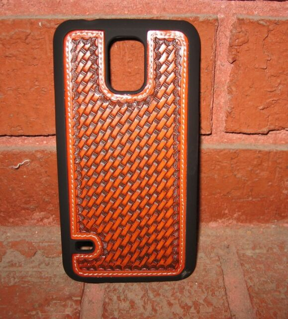 new arrivals e56ae 6e687 WESTERN CELL PHONE CASE BASKET WEAVE SAMSUNG GALAXY S5 COWBOY COWGIRL  ACCESSORY