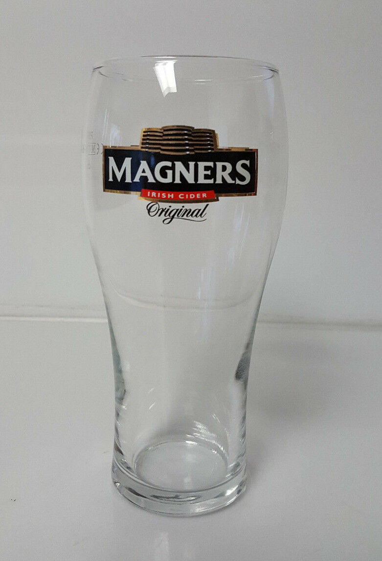 Details about  /2x Magners Original Irish Cider 1 Pint Glasses Tulip Style Glass Crown Marked