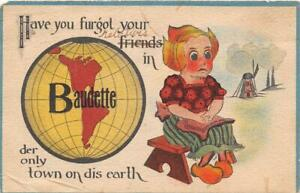 BAUDETTE-MN-1908-13-Little-Dutch-Girl-Whimsical-034-Have-You-Furgot-Your-Friends