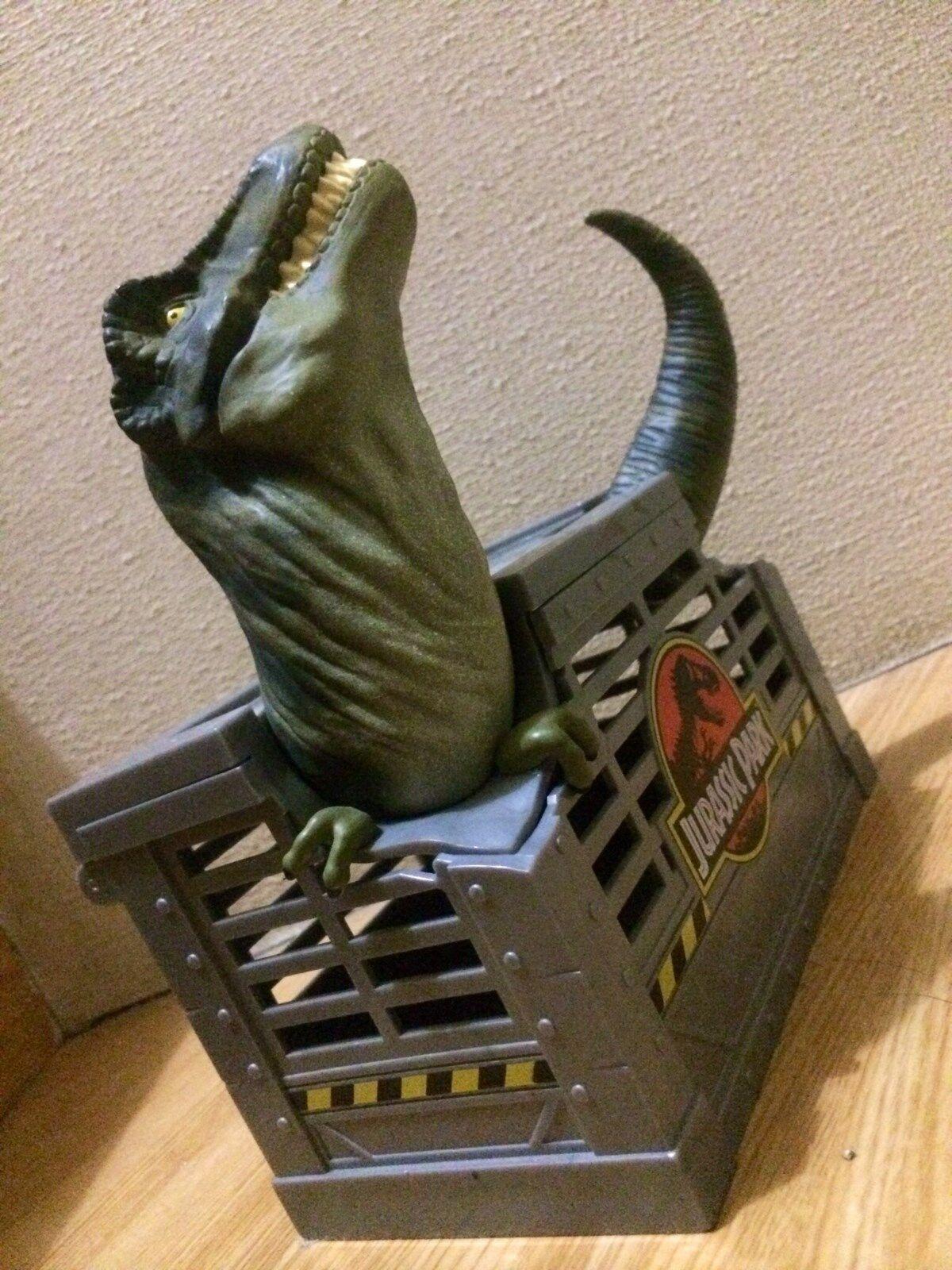 5.9in 15cm JURASSIC PARK LOST WORLD in T-rex in WORLD cage japan original topper figure 5056ff