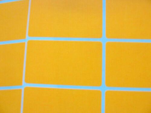 Etiquetas Lisos blc537 Blanco 52x30mm rectángulo 24 Naranja Papel Mini pegatinas